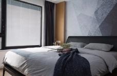 118平现代简约三居室,黑白灰调舒适阳光房图_8
