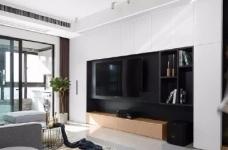 118平现代简约三居室,黑白灰调舒适阳光房图_5