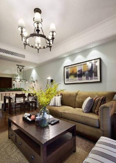 98㎡简约美式风格家居装修,美观实用!