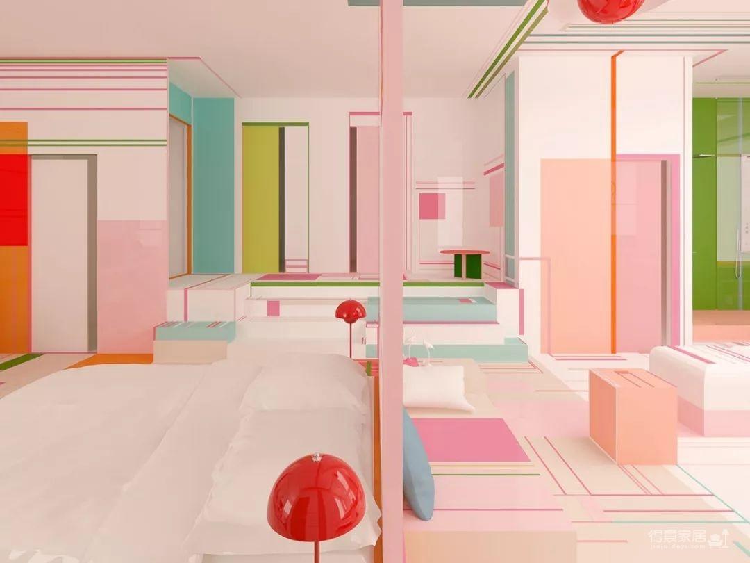 粉色湖水系,会呼吸的房子