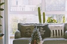 130平北欧混搭,卧室是灰绿色配白色;客厅是深绿色沙发背景墙配上浅薄荷绿,清新舒适图_4