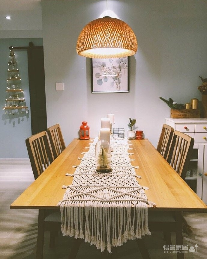 130平北欧混搭,卧室是灰绿色配白色;客厅是深绿色沙发背景墙配上浅薄荷绿,清新舒适图_7