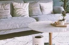 130平北欧混搭,卧室是灰绿色配白色;客厅是深绿色沙发背景墙配上浅薄荷绿,清新舒适图_1