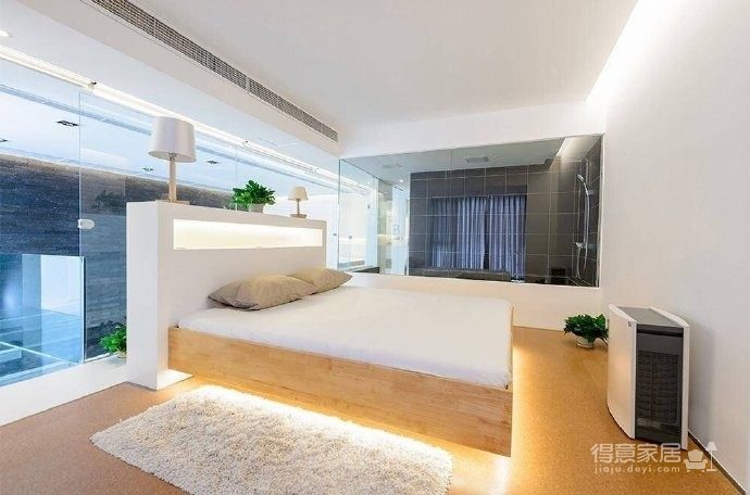 现代简约风格复式家居装修设计方案,无处不体现出年轻人追求的现代感,又不失功能性,好酷! 图_8