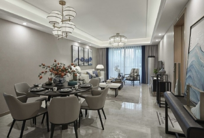 在注重功能性设计的基础上,以人为本,打造出适配美学的素雅居室。