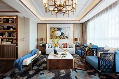 新中式风格的诗意典雅,齐聚东西方美学灵性:东方温润光影细腻了时光,西方都市喧嚣惊艳了岁月! 