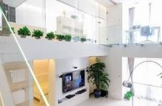 现代简约风格复式家居装修设计方案,无处不体现出年轻人追求的现代感,又不失功能性,好酷! 图_3