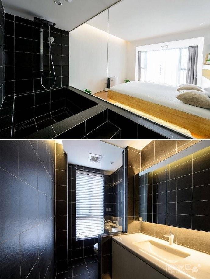 现代简约风格复式家居装修设计方案,无处不体现出年轻人追求的现代感,又不失功能性,好酷! 图_6