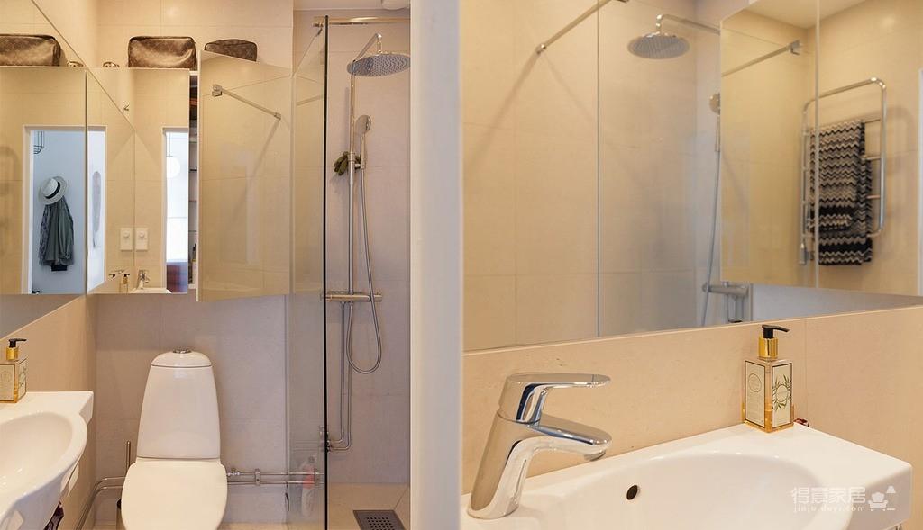 47平功能性单身公寓设计,阳台风景美如画!图_12