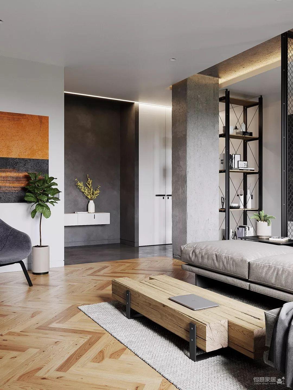 三处混凝土两处金属网格,让这个时髦空间与众不同