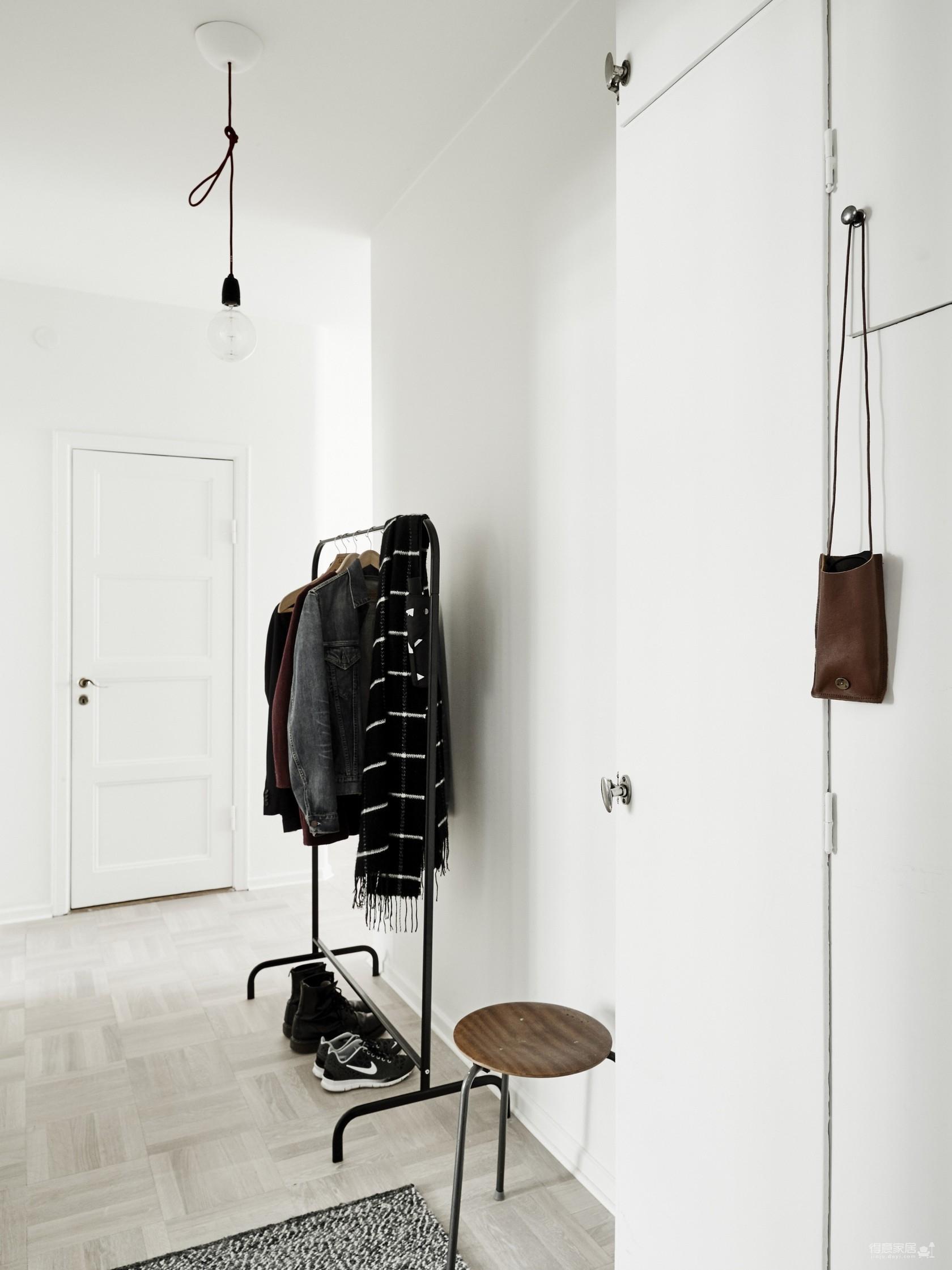 瑞典45平极简公寓设计,简单清爽!