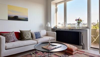 47平功能性单身公寓设计,阳台风景美如画!