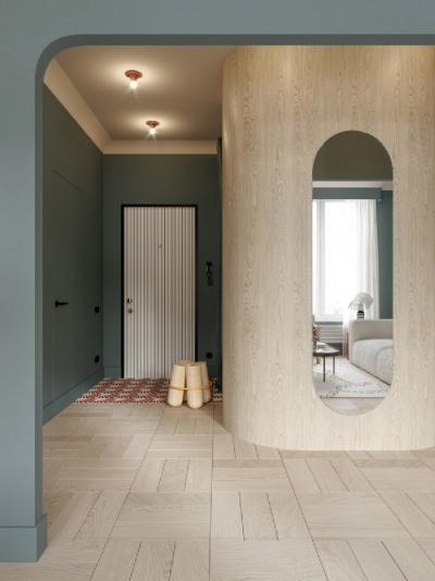 打开多彩的北欧设计新世界,全屋弧形线条超美!