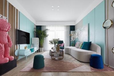 北欧风格三居室,充满想象力的色彩营造出新潮美学