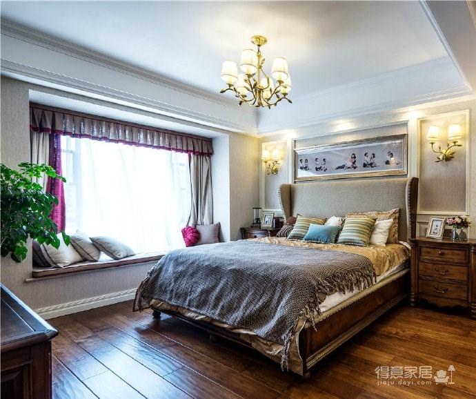 简约美式风格三居室装修设计图_6