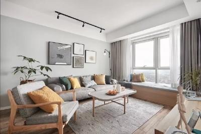 98㎡文艺范儿北欧风格三居室装修设计