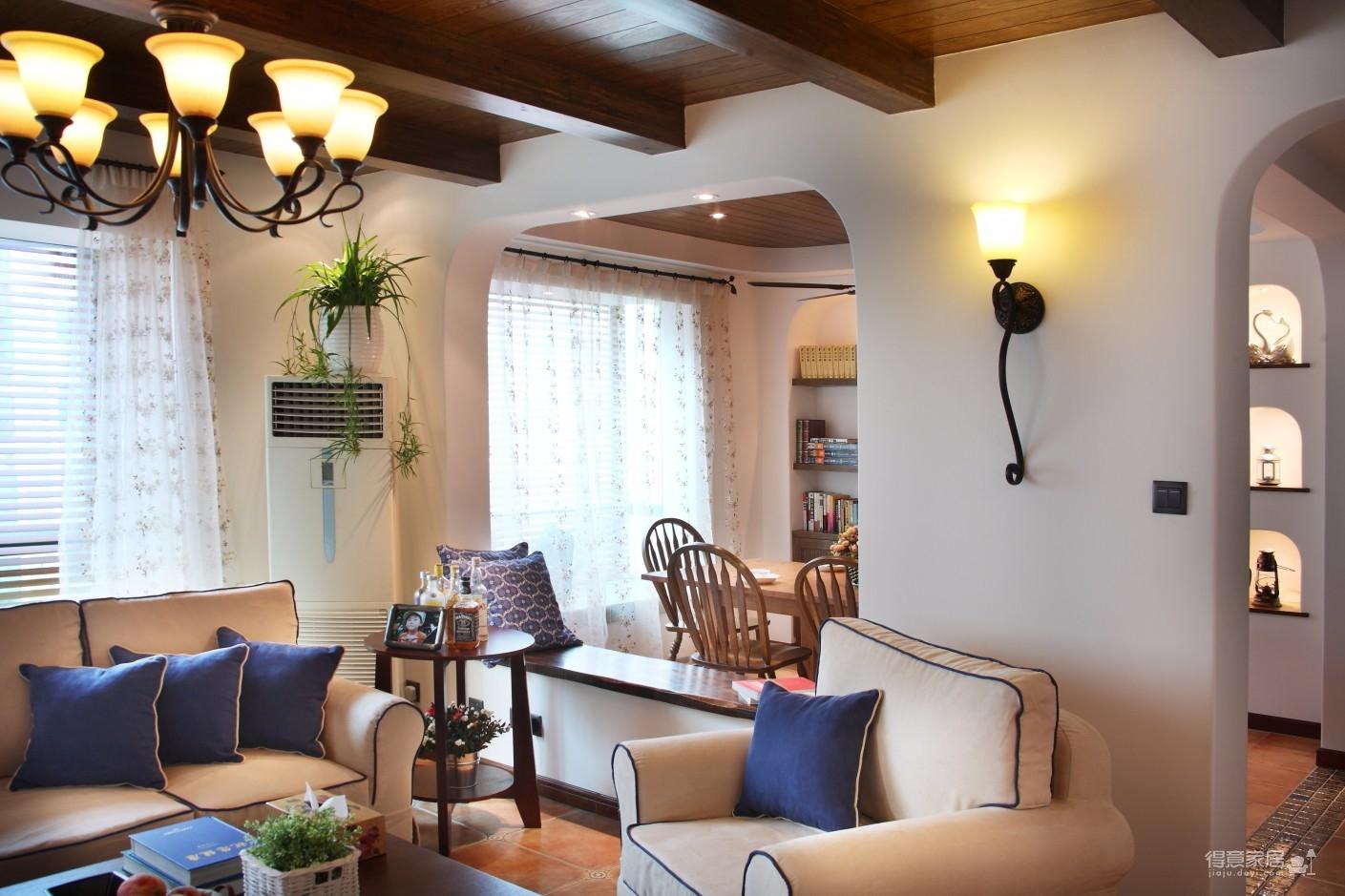 地中海三居室96平米超温馨图_2