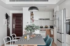 89㎡简约北欧风格三居室装修,清新雅致又舒适的家! 图_2