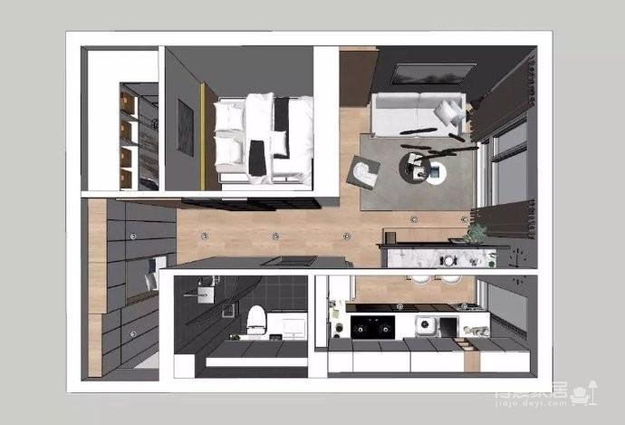 35㎡简约北欧风格小窝,温馨的小户型公寓设计,值得参考! 图_4