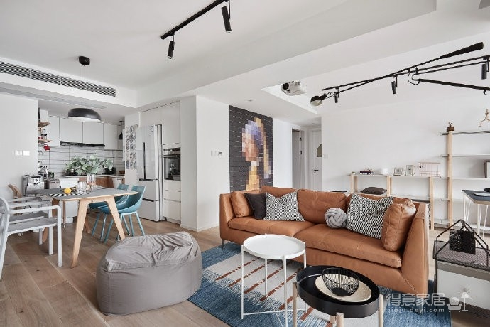 89㎡简约北欧风格三居室装修,清新雅致又舒适的家! 图_3