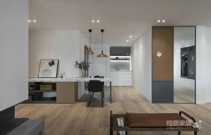 温润原木与质朴水泥的搭配,营造了这个简约现代风格的素雅空间! 图_5