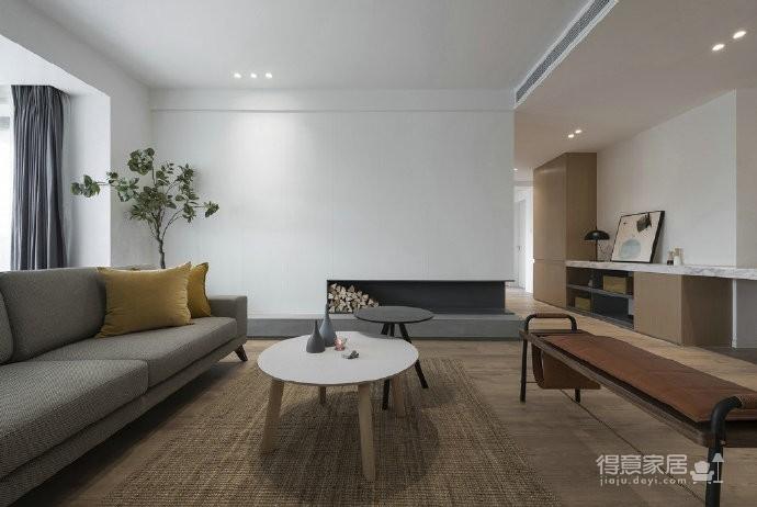 温润原木与质朴水泥的搭配,营造了这个简约现代风格的素雅空间! 