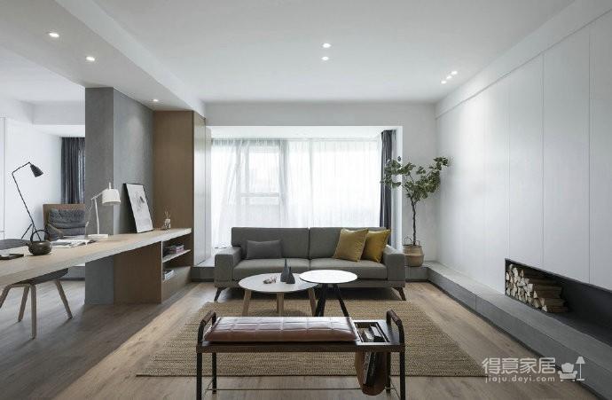 温润原木与质朴水泥的搭配,营造了这个简约现代风格的素雅空间! 图_3