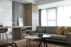 温润原木与质朴水泥的搭配,营造了这个简约现代风格的素雅空间! 图_6