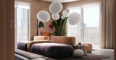 88㎡多彩设计,把梵高融入我的家!