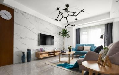 105㎡简约风格家居装修设计,一个清新时尚的实用之家! 