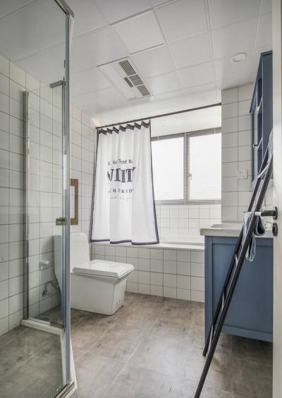 清新北欧风三居室装修设计案例,休闲惬意的蓝灰色感觉好干净舒适! 