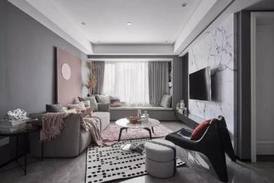 粉色与灰色并存于同一空间,相辅相成,既有灰色的高级奢侈感又有粉色带来的艺术气息,下次家里也这么设计吧~ 