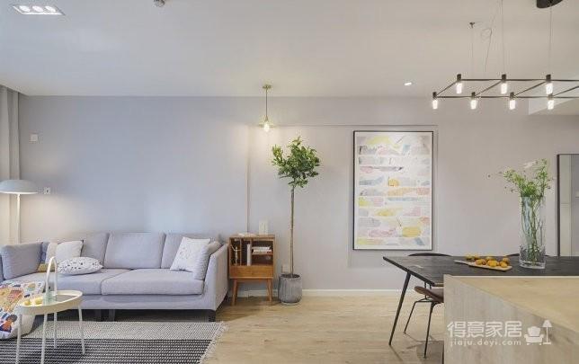 89平现代简约家装,空间围绕莫兰迪灰展开图_3