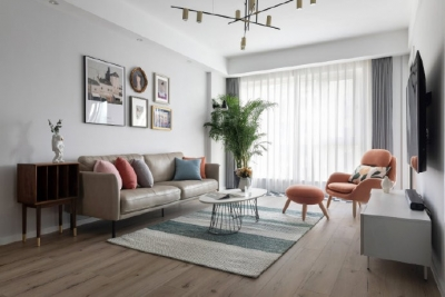 窗明几净,温馨阳光,多点色彩,添些智能,北欧带了那么点小清新。117平米北欧风格四居室