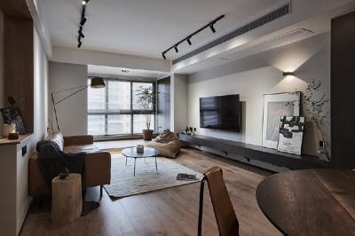 89平现代简约风,台式性冷淡装修的家
