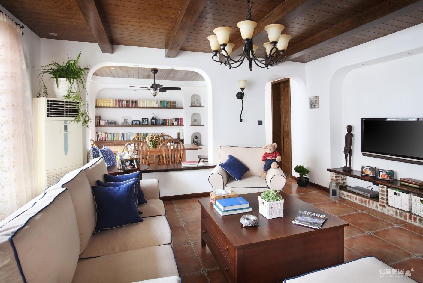 130㎡空间里的圆拱门,让家更添复古时尚气息图_2