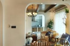 130㎡空间里的圆拱门,让家更添复古时尚气息图_11