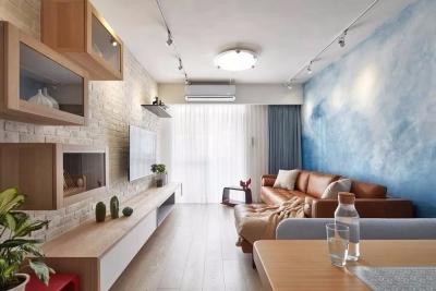 设计师为业主打造独特室内空间的黄仲均设计总监表示,此屋格局方正且拥有良好采光,设计上也最大的保留了这一优势。
