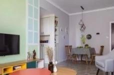 时尚多彩之家,梦想中的家,非常漂亮。简约偏北欧风的家, 灰色与白色是全屋的基色,当然少不了原木家具的登场了。图_2
