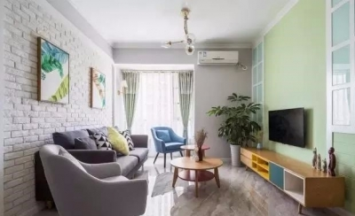 时尚多彩之家,梦想中的家,非常漂亮。简约偏北欧风的家, 灰色与白色是全屋的基色,当然少不了原木家具的登场了。