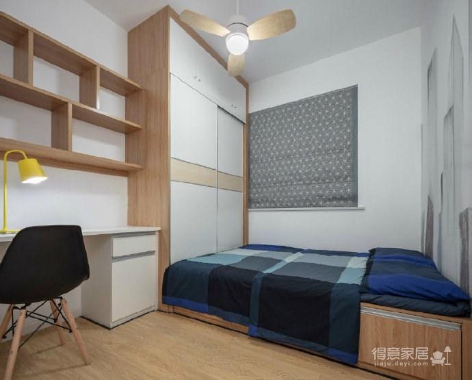 90㎡清新北欧风三居室,太喜欢沙发墙的设计了,时尚个性! 