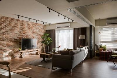 132平米混搭风住宅,屋主两人特别钟情随兴的工业风设计,打造出屋主心中完美的生活模样
