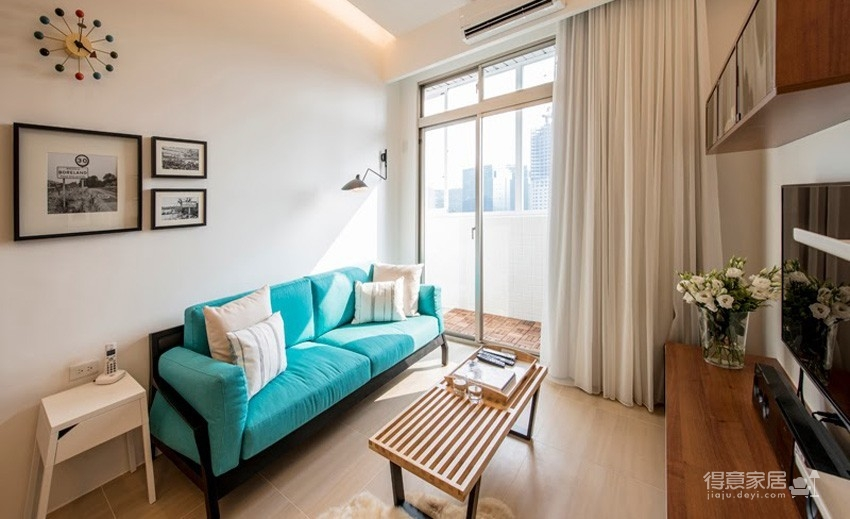 小户型北欧二居室装修设计,高颜值与强收纳并存图_2