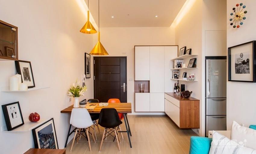 小户型北欧二居室装修设计,高颜值与强收纳并存图_6