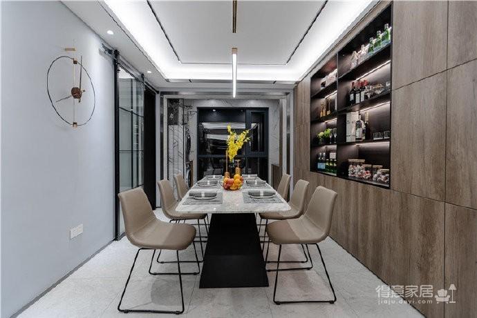 155平现代轻奢装修,客厅的设计确实奢而不华,线条感很强图_6