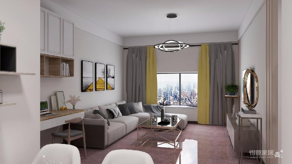 满足一家三口的生活需求。整体设计简约、阳光,户型比较方正,区域划分较为细致明晰,但是单个房间的面积不大。