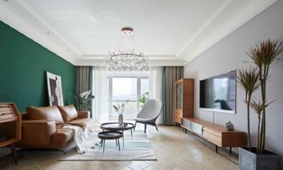 100平精装房改造成北欧复古风,精致简约的家