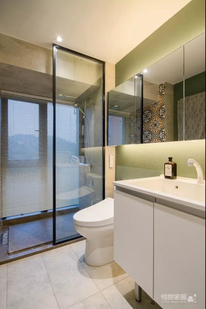 89㎡混搭时尚家居装修设计,墨绿色与金属元素点缀的爱家,温馨又舒适!