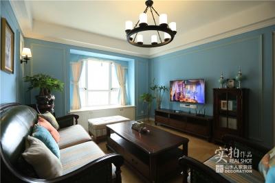 110平三室两厅蓝色系简美