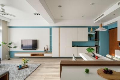 宽阔与收纳同在,生活与品质相依。简单、文艺、小户型、大空间、强收纳,这里有你想要的一切!84平米北欧风格三居室